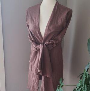 Hinge designed in Seattle bell sleeve cardigan